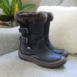 Merrell Black Winter Snow Boots Women's 6.5